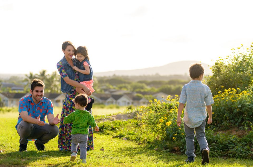 Oahu Family Portrait Photography, Imua Garza and Tiffa Garza. Photo by Mayberry Multimedia