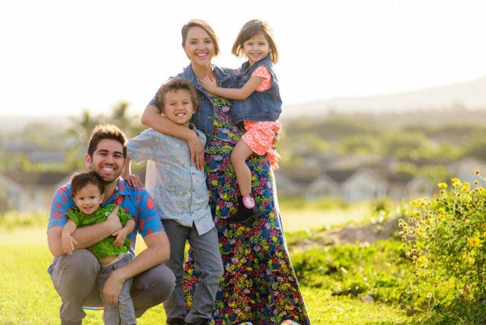 Oahu Family Portrait Photography, Imua Garza and Tiffa Garza. Photo by Mayberry Multimedia