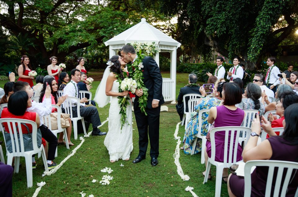 Wedding Photography at the Hale Koa Hotel, Waikiki. Photo by Mayberry Multimedia
