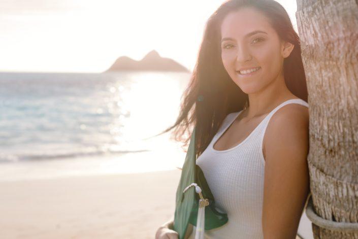 Senior Portraits at Lanikai Beach, Hawaii. Photo by Mayberry Multimedia