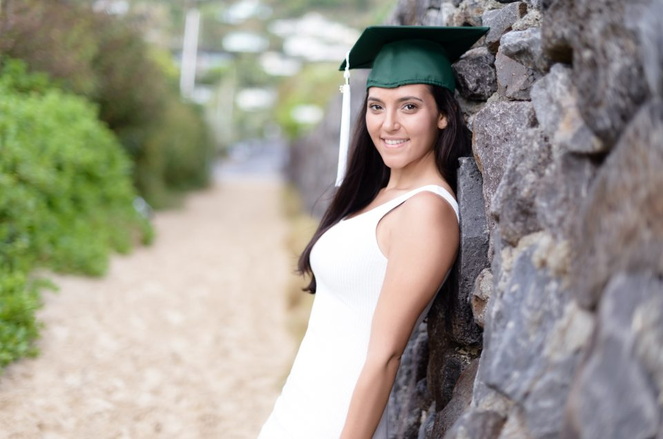 Senior Portraits at Lanikai Beach, Hawaii. Photo by Mayberry Multimedia