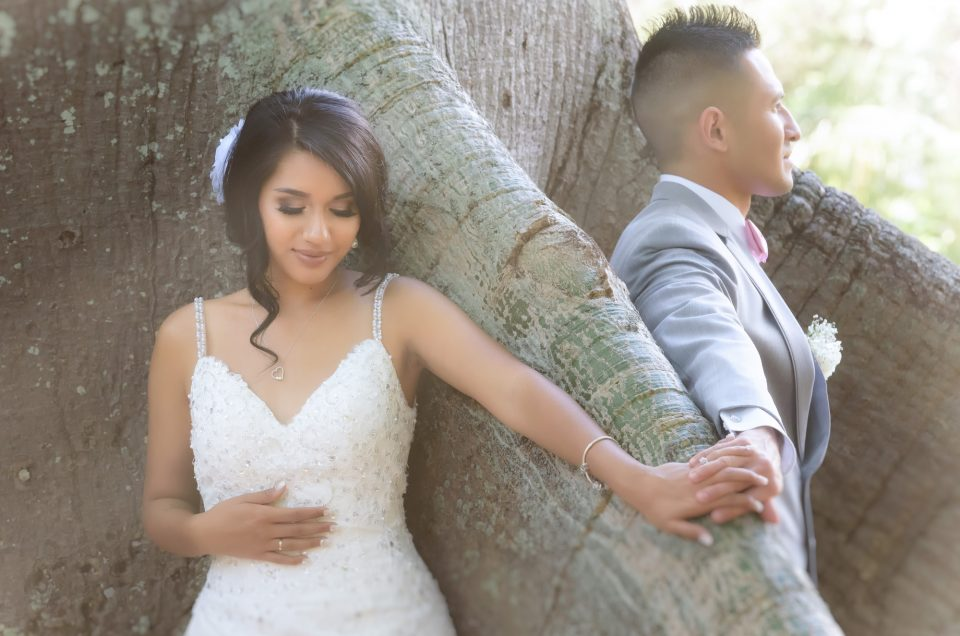 Hawaii Wedding Photography and Videography at Foster Botanical Garden and Camp Smith. Photo by