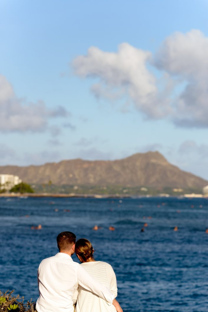Engagement Photos, Kaka'ako Waterfront Park, Oahu Hawaii. Photo by Mayberry Multimedia