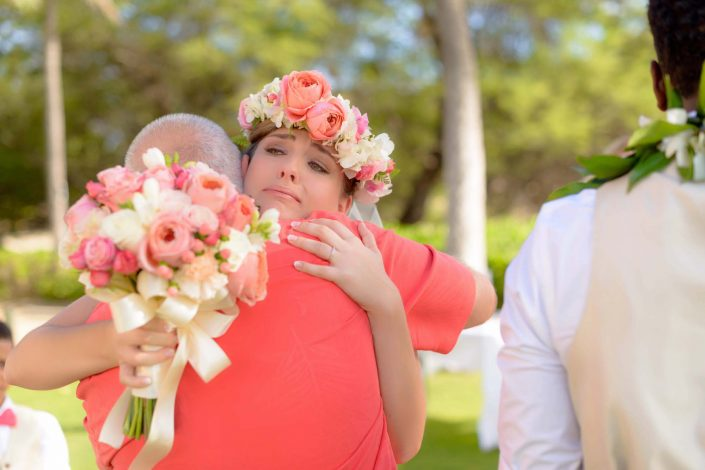 Oahu Wedding Photography - Bride and Father of the Bride. Photo by Mayberry Multimedia