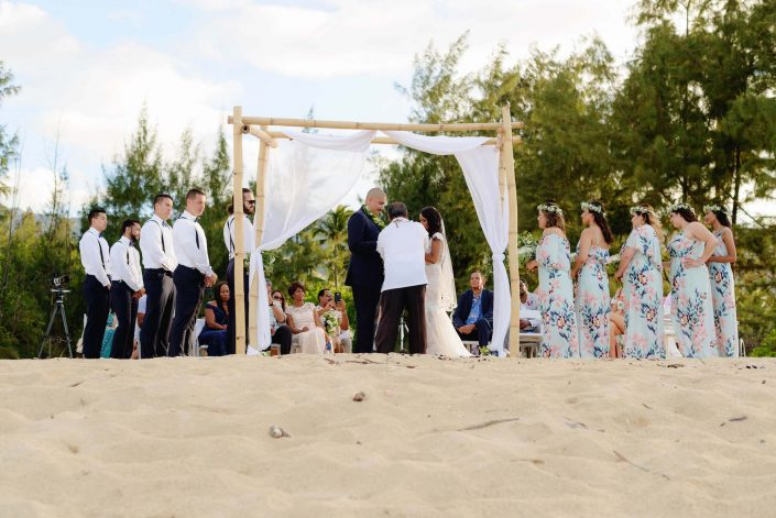 Destination Wedding in Hawaii at the Hawaii Polo Club on Oahu's North Shore. Photo by Mayberry Multimedia