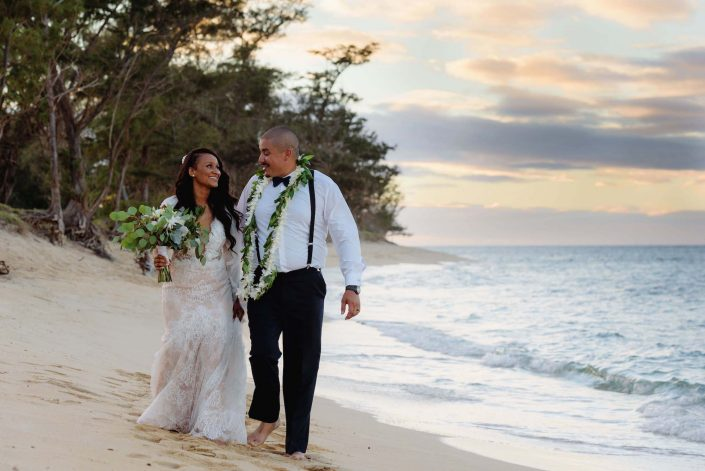 Couples Photos - Destination Wedding in Hawaii at the Hawaii Polo Club on Oahu's North Shore. Photo by Mayberry Multimedia